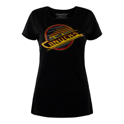Vancouver Canucks Womens Campus Crew Heritage Skate T-Shirt - Vanbase