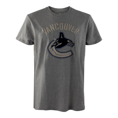 Vancouver Canucks Mens Campus Crew Twisted Yarn Orca T-Shirt - Vanbase