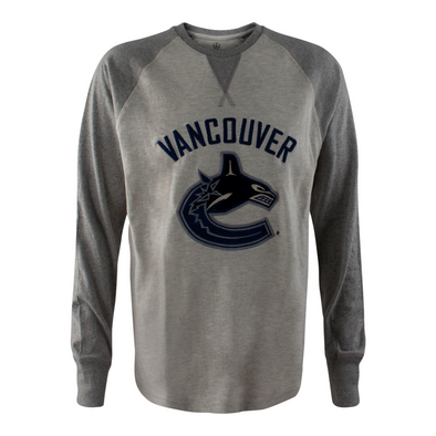 Vancouver Canucks Mens Campus Crew Twisted Yarn Raglan - Vanbase