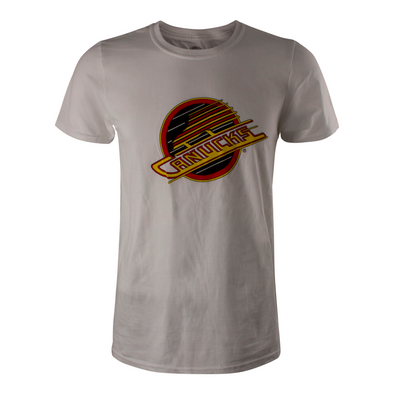 Vancouver Canucks Mens Basic Skate T-Shirt (White) - Vanbase