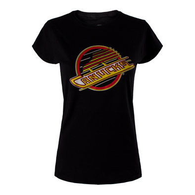 Vancouver Canucks Womens Basic Skate T-Shirt (Black) - Vanbase