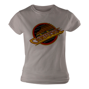 Vancouver Canucks Womens Basic Skate T-Shirt (White) - Vanbase