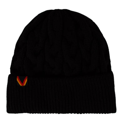 Vancouver Canucks Herschel Flying V Knoll Beanie (Black)