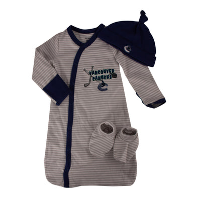 Vancouver Canucks Infant Sleep Gown (3 Piece Set) - Vanbase