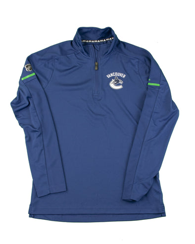 Canucks Youth Adidas Training 1/4 Zip Long Sleeve - Vanbase