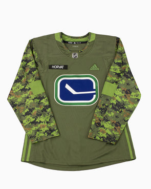 Vancouver Canucks Adidas Camo B. Horvat Jersey - Vanbase