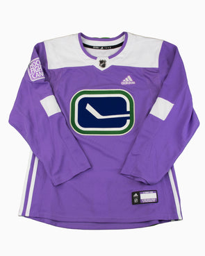 Vancouver Canucks Adidas Hockey Fights Cancer E. Pettersson Jersey