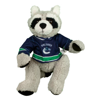 "Vancouver Canucks 10"" Racoon in Canucks Jersey - Vanbase"