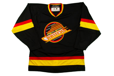 Vancouver Canucks Adidas Team Classic Name & Number '94 Black Skate Jersey