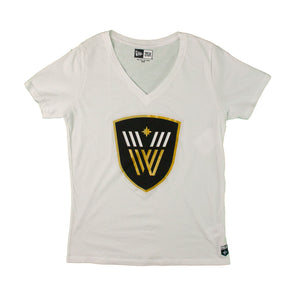 Vancouver Warriors Ladies New Era Logo T-Shirt (White)