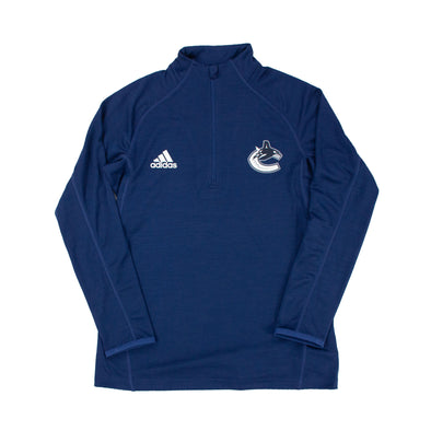 Vancouver Canucks Adidas Womens Game Mode 1/4 Zip