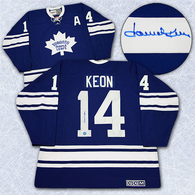 Dave Keon Toronto Maple Leafs Autographed 1967 Stanley Cup Retro CCM Jersey - Vanbase
