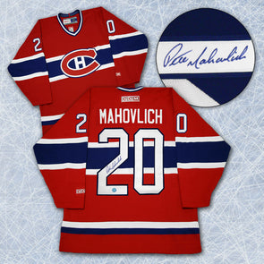 Peter Mahovlich Montreal Canadiens Autographed Retro CCM Hockey Jersey - Vanbase