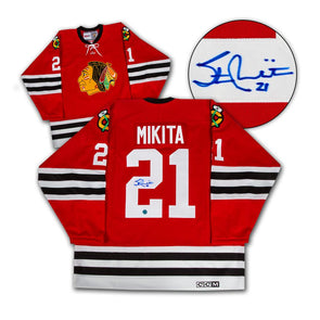 Stan Mikita Chicago Blackhawks Autographed CCM Vintage Hockey Jersey