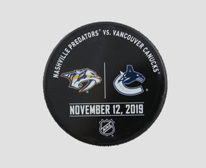 Vancouver Canucks VS. Nashville Predators Warm Up Puck- November 12th, 2019