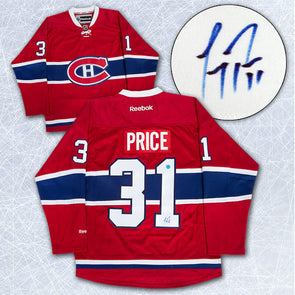 Carey Price Montreal Canadiens Autographed White Reebok Premier Hockey Jersey - Vanbase