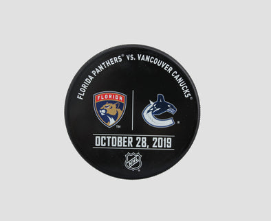 Vancouver Canucks VS. Florida Panthers Warm Up Puck- October 28th, 2019