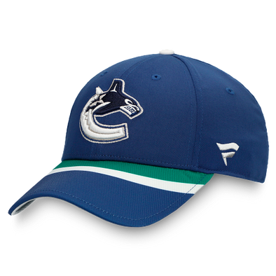 Vancouver Canucks Fanatics Special Edition Locker Room Adjustable Hat