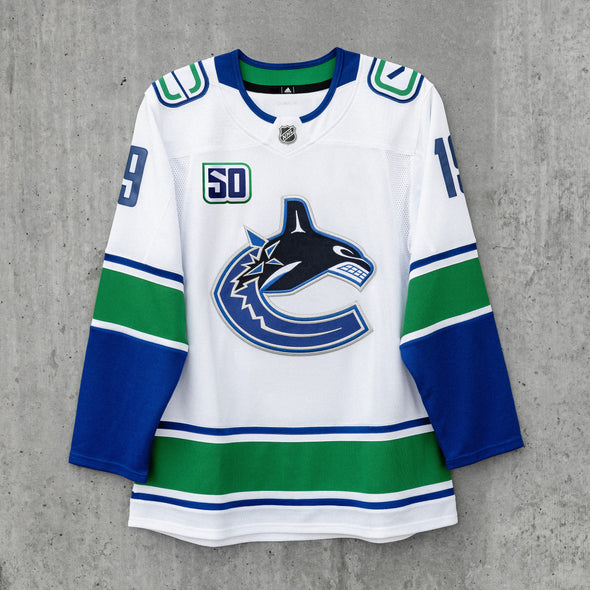 Vancouver Canucks Adidas Pro Name & Number Away Jersey (Pre-Order for Sept. 16th)