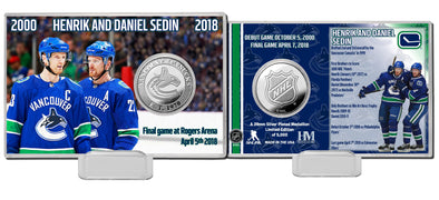 Daniel & Henrik Sedin Coin Photo Mint - Vanbase