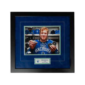 Boeser Hat Trick Framed Photo