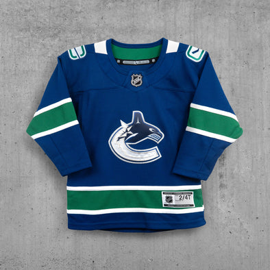 Vancouver Canucks Child Name & Number Home Jersey