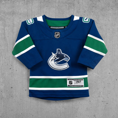 Vancouver Canucks Infant Home Name and Number Jersey