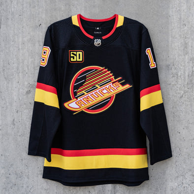 Vancouver Canucks Adidas Pro Name & Number Black Skate Jersey