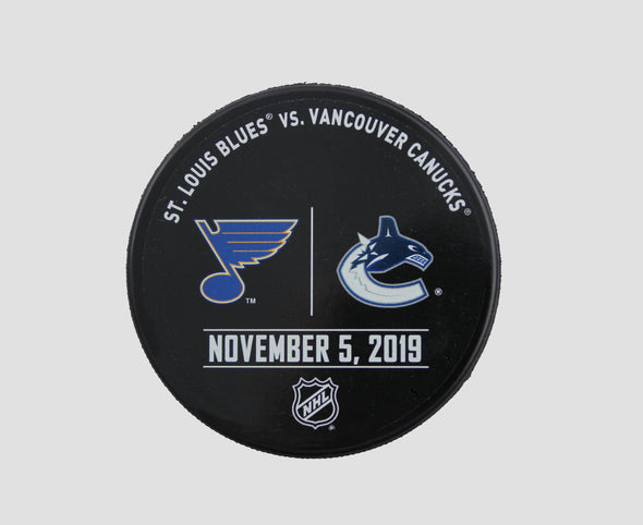 Vancouver Canucks VS. St. Louis Blues Warm Up Puck- November 5th, 2019