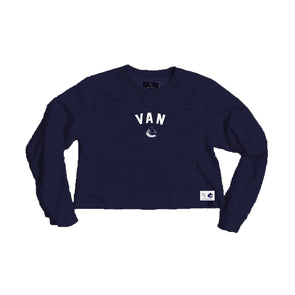 Vancouver Canucks Peace Collective Ladies Van Crop Crewneck