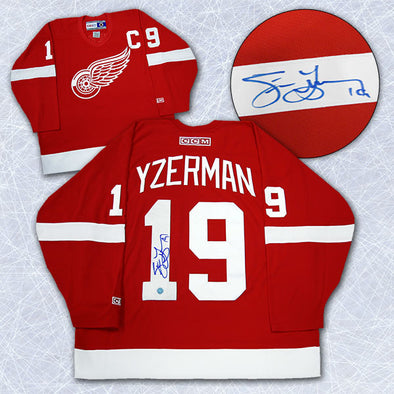 Steve Yzerman Detroit Red Wings Autographed Retro CCM Hockey Jersey - Vanbase