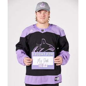 Brock Boeser Hockey Fights Cancer Signed Warm-Up Jersey