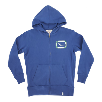 Vancouver Canucks Youth Banner Gameday Fullzip Blue