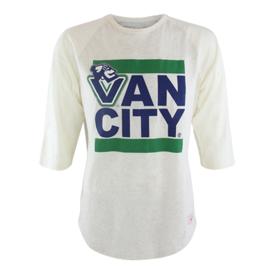 Vancouver Canucks Mitchell & Ness Raglan Vancity Johnny White - Vanbase