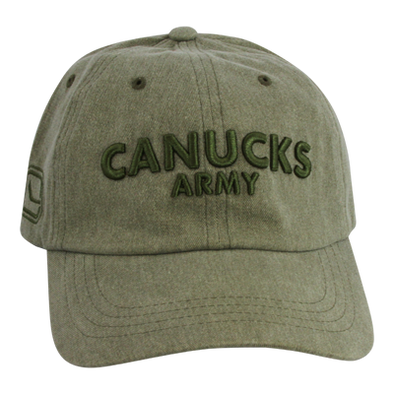 Vancouver Canucks Army Mitchell & Ness In The Army Dad Hat - Vanbase