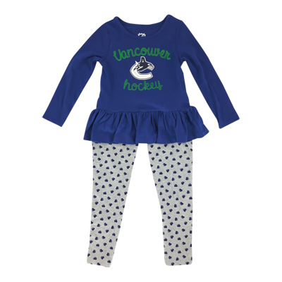 Vancouver Canucks Child Puck Drop Sweet Heart Set - Vanbase