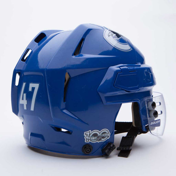 Canucks Blue Game Worn Helmets - Vanbase