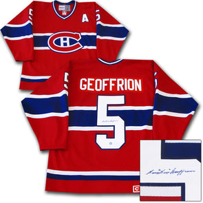 Bernie Geoffrion Montreal Canadians Autographed Jersey