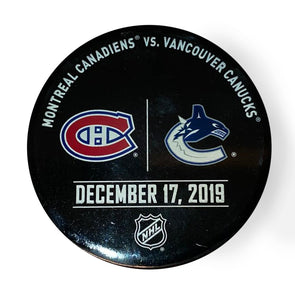 Vancouver Canucks VS. Montreal Canadiens Warm up Puck - December 17th, 2019