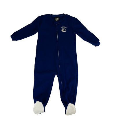 Vancouver Canucks Infant Fuzzy One Piece - Vanbase