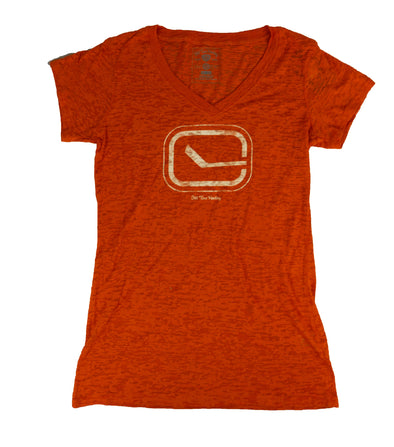 Vancouver Canucks Ladies Stick in Rink V Neck - Vanbase