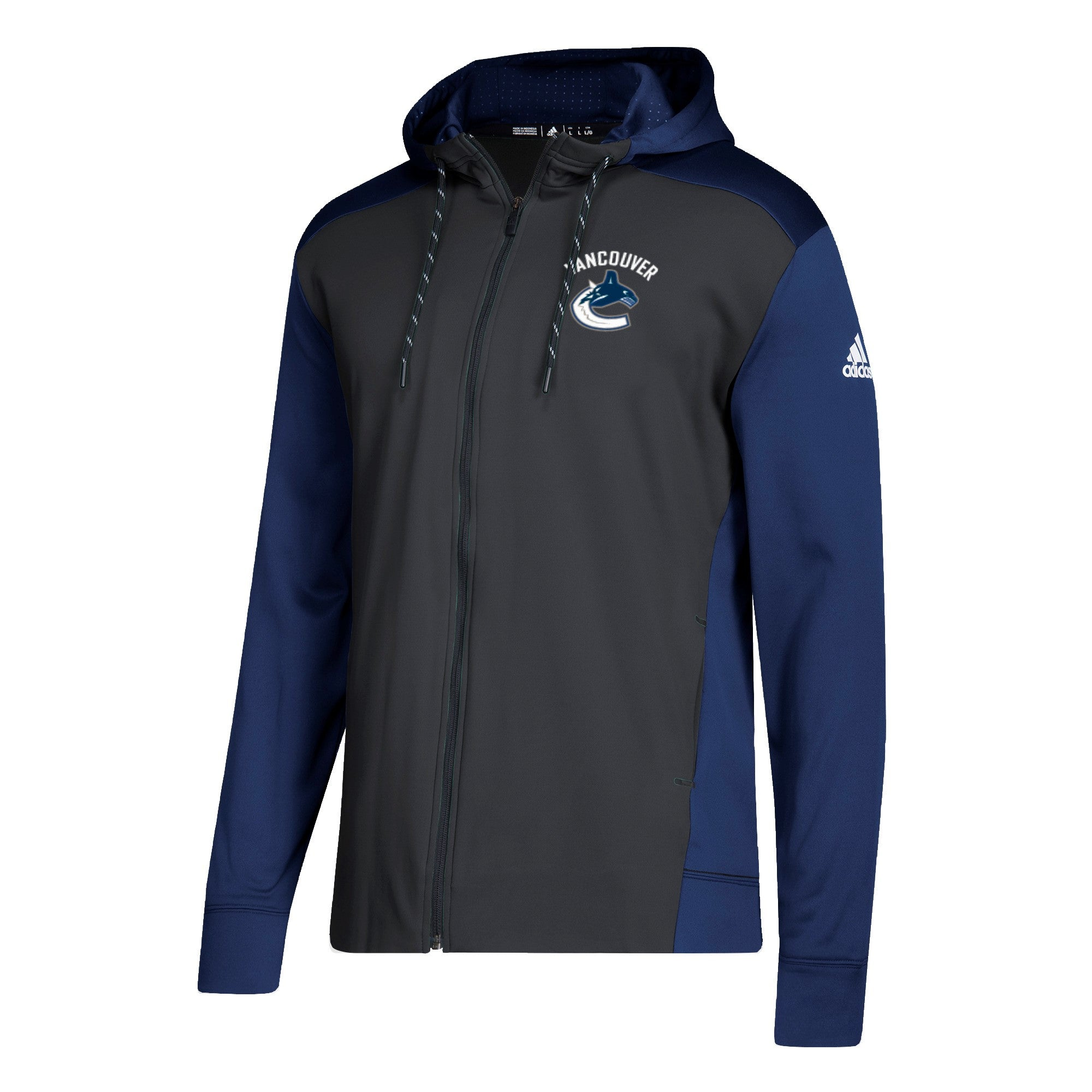693a8ef9502 Vancouver Canucks Mens Adidas Orca Full Zip Training Hoodie