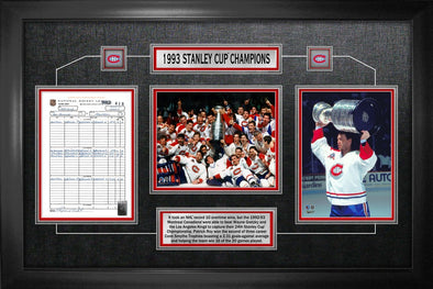 Montreal Canadiens 93 Score Sheet