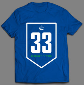 Sedin Retirement Night Banner T-Shirt