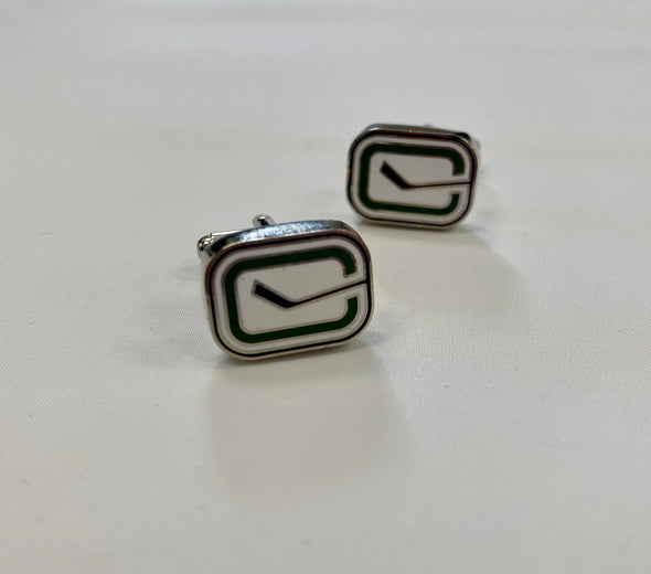 Vancouver Canucks Stick Rink Logo Cufflinks