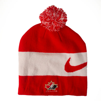 Team Canada Nike Swoosh Red Pom Toque - Vanbase