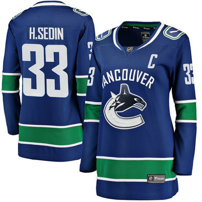 Canucks Womens Fanatics 2018-2019 Name and Number Home Jersey