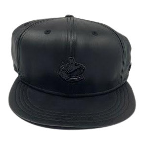 Vancovuer Canucks Black Label Glossy Metal Snapback - Vanbase