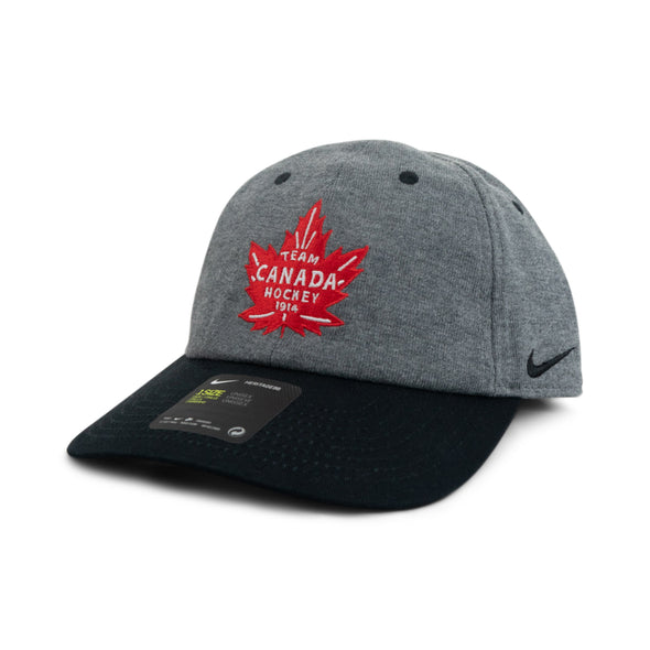 TEAM CANADA HEATHER HAT BLK O/S