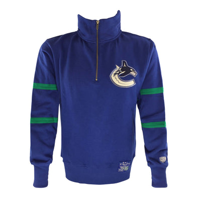Vancouver Canucks Old Time Hockey Rivera 1/4 Zip - Vanbase